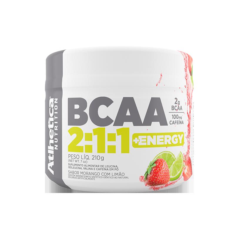 BCAA 2:1:1 +ENERGY | MORANGO COM LIMÃO (210G)