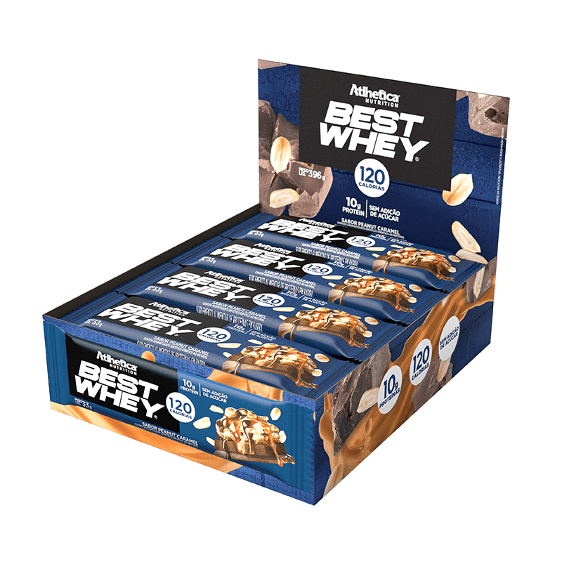 BEST WHEY BAR | PEANUT CARAMEL (DISPLAY 12 UNIDADES)