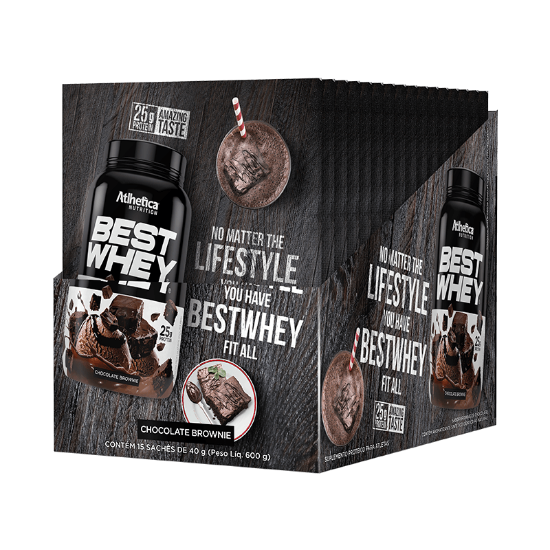 BEST WHEY | BROWNIE CHOCOLATE (DISPLAY 15 SACHÊS)