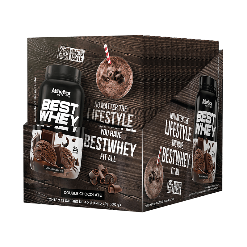 BEST WHEY | DOUBLE CHOCOLATE (DISPLAY 15 SACHÊS)