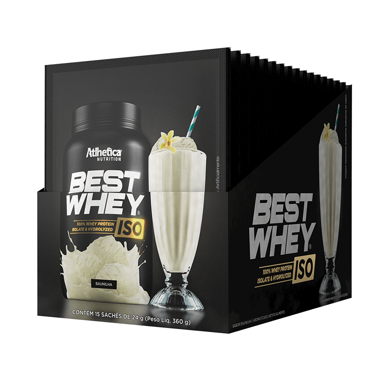 BEST WHEY ISO | BAUNILHA (DISPLAY 15 SACHÊS)