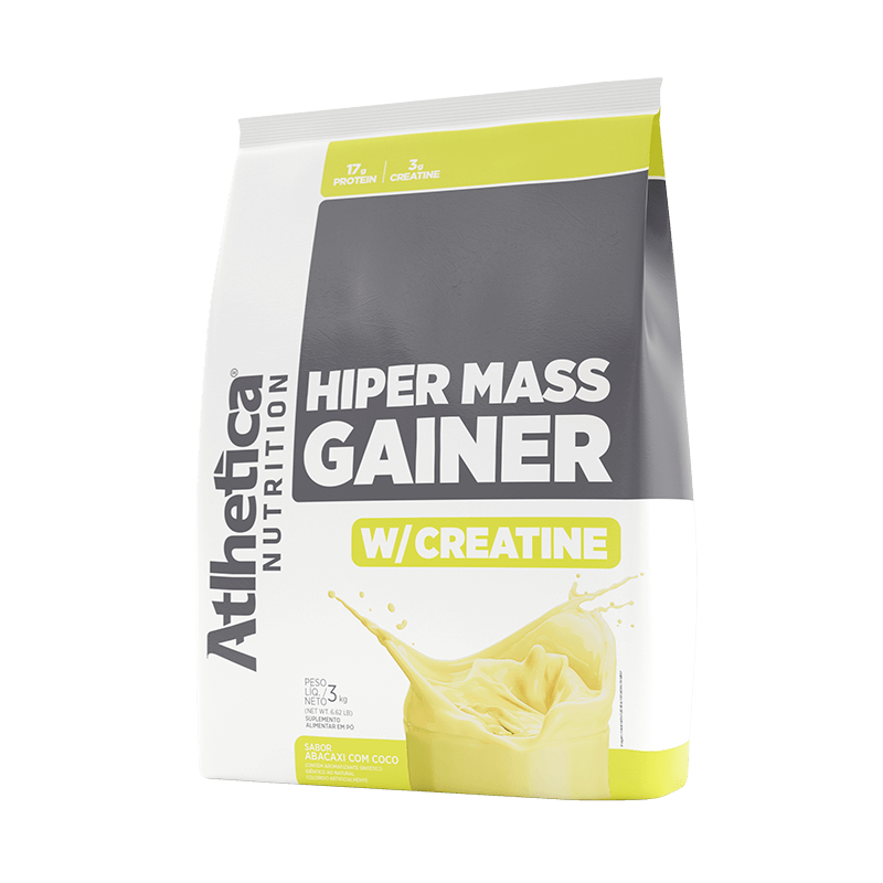 HIPER MASS GAINER W/ CREATINE   ABACAXI COM COCO (3KG)
