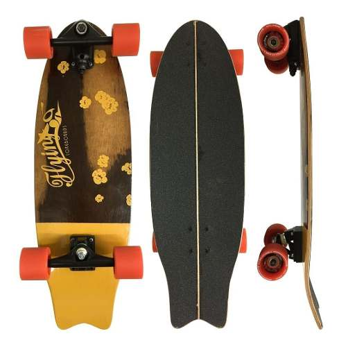 Simulador De Surf Flying Flowers Yellow 9.6""