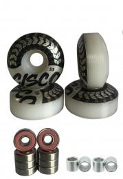 4 Rodas Para Skate Street 53mm/Espaçadores e Rolamentos Abec 5