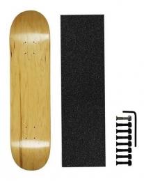 Shape De Skate Cisco Marfim/lixa Emborrachada/parafuso Base