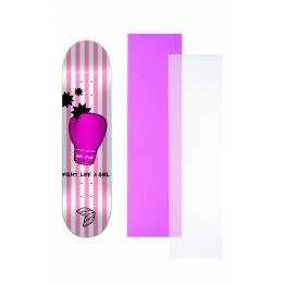 """Shape Cisco Skate Marfim Feminino Glove 8"""" + Lixa Rosa ou Transparente"""