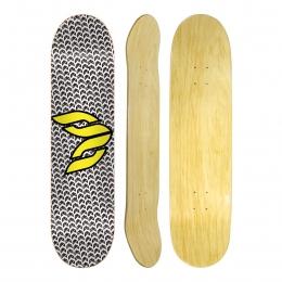 "Shape Cisco Skate Marfim Logo Yellow 8.5"""