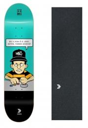 """Shape Cisco Skate Fiber Decks Makes no Jogo 8.125"""" + Lixa Emborrachada"""