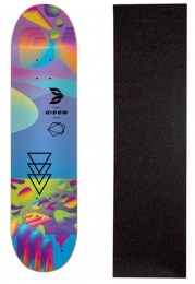 "Shape Cisco Skate Fiber Decks Neon Blue 8"" + Lixa Gratis"
