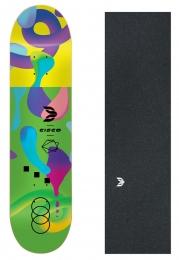 "Shape Cisco Skate Fiber Decks Neon Green 8.125"" + Lixa Emborrachada"