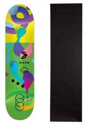 "Shape Cisco Skate Fiber Decks Neon Green 8.125"" + Lixa Gratis"