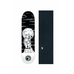 """Shape Cisco Skate Fiber Decks Serie Animais Noturnos Fox 8"""" + Lixa Emborrachada"""