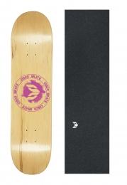 Shape Cisco Skate Maple Canadense Importado Logo Pink + Lx Emborrachada