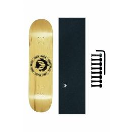 Shape Cisco Skate Maple Canadense Importado Logo Black + Lx Emborrachada + Parafuso de Base