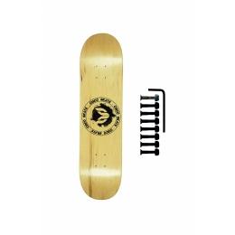 Shape Cisco Skate Maple Canadense Importado Logo Black + Parafuso de Base