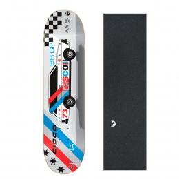 "Shape Cisco Skate Marfim Belina 8.25"" + Lixa Emborrachada"