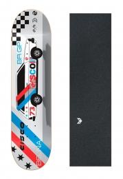 "Shape Cisco Skate Marfim Belina 8"" + Lixa Emborrachada"