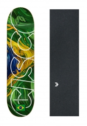 "Shape Cisco Skate Marfim Braza 8""/8.125""/8.25"" + Lixa Emborrachada"