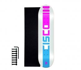 "Shape Cisco Skate Marfim Company Pink 7.75"" + Lixa Emborrachada + Parafuso de Base"
