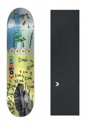 "Shape Cisco Skate Marfim Love 8.25"" + Lixa Emborrachada"