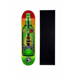 "Shape Cisco Skate Marfim Music Raggae 8"" + Lixa Grátis"