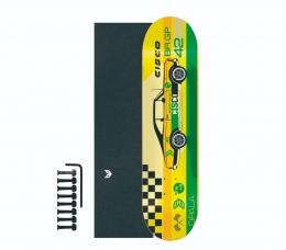 "Shape Cisco Skate Marfim Opala 8.25""  + Lixa Emborrachada + Parafuso de Base"