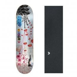 "Shape Cisco Skate Marfim Peace 8.125"" + Lixa Emborrachada"