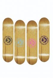 """Shape de Skate Cisco Marfim Brasão Colors 8.5"""" +  Lixa Grátis"""