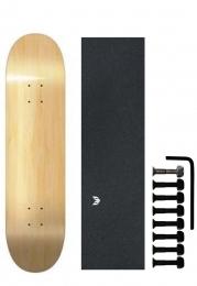 Shape de Skate Cisco Marfim Liso + Parafuso de Base + Lixa Emborrachada