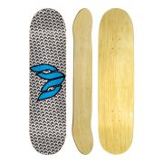 Shape de Skate Cisco Marfim Logo Blue 8