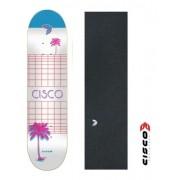 Shape De Skate Cisco Marfim Wave C/lixa Emborrachada 8.5
