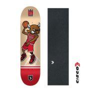 Shape de Skate Cisco Premium Basquetball + Lixa Emborrachada 8.
