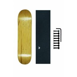 Shape Maple Canadense Importado Cisco Skate Liso + Lixa Emborrachada + Parafuso de Base