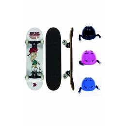 """Skate Infantil Cisco Desde Sempre Little Boy 7.28"""" + Capacete Infantil"""