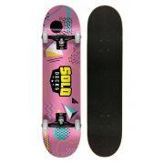 Skate Montado Iniciante Solo Colagem Pink 7.75
