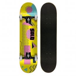 """Skate Montado Iniciante Solo Colagem Yellow 7.75"""""""