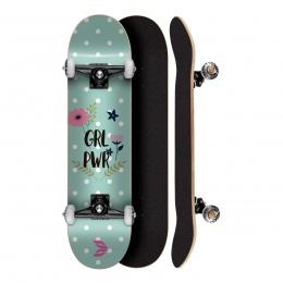Skate Montado Profissional Cisco Feminino Flowers 8.0 - Abec 5