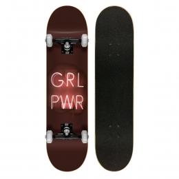 Skate Montado Profissional Cisco Feminino Girl Power Led - Abec 7
