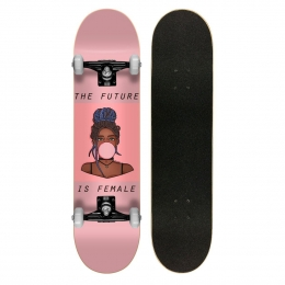 Skate Montado Profissional Cisco Feminino Gum - Abec 7