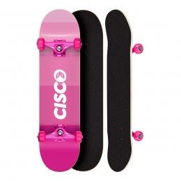 Skate Montado Profissional Cisco Feminino Pink Degrade - Abec 5