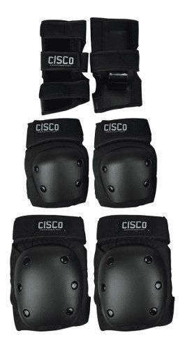 Kit De Proteção Cisco Skate Profissional P/ Esporte Radicais