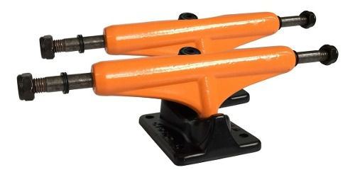 Truck Cisco Skate 129mm Preto X Laranja