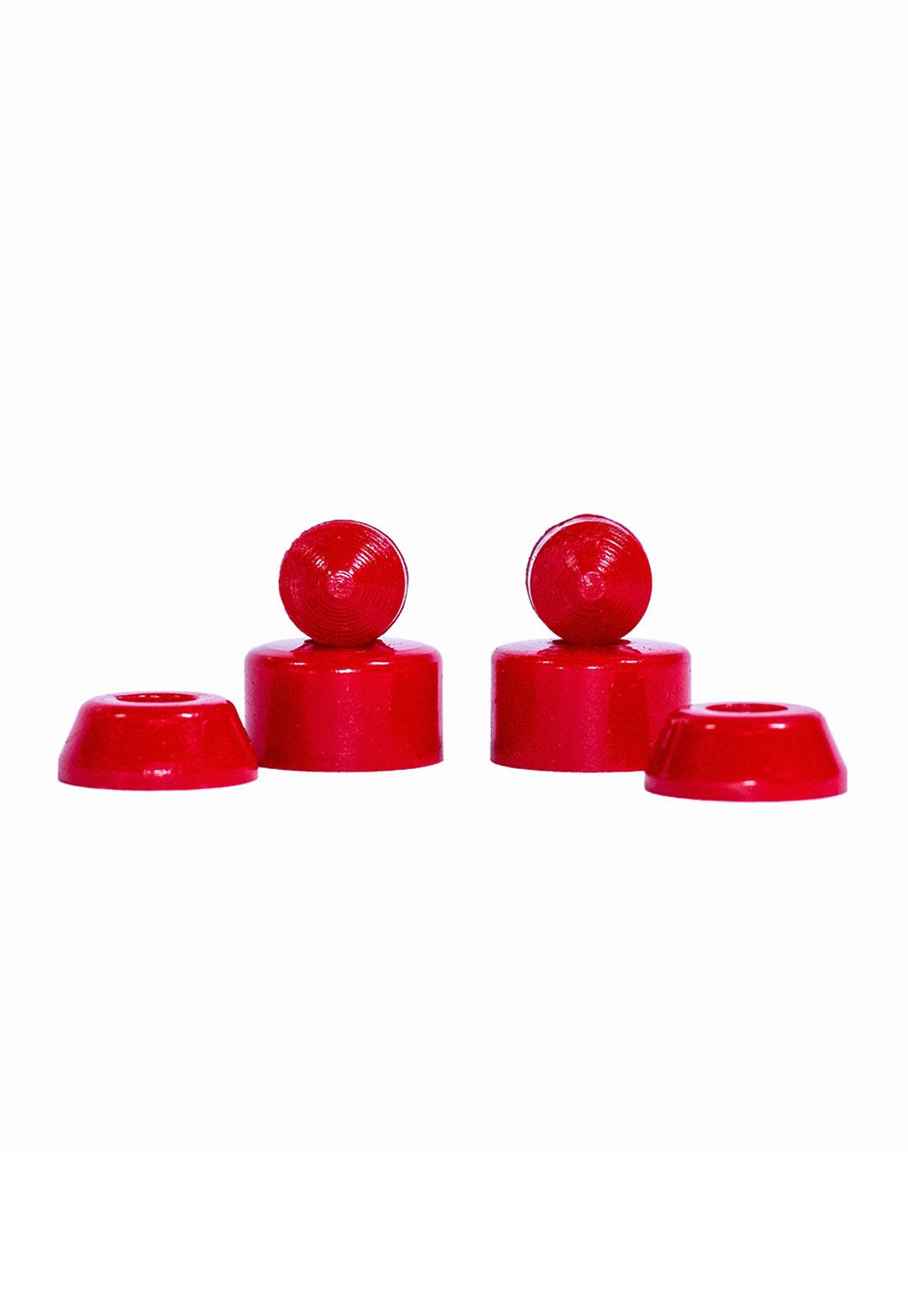 Amortecedor Poliuretano Fundido Conico 9,5mm Cisco Skate Red