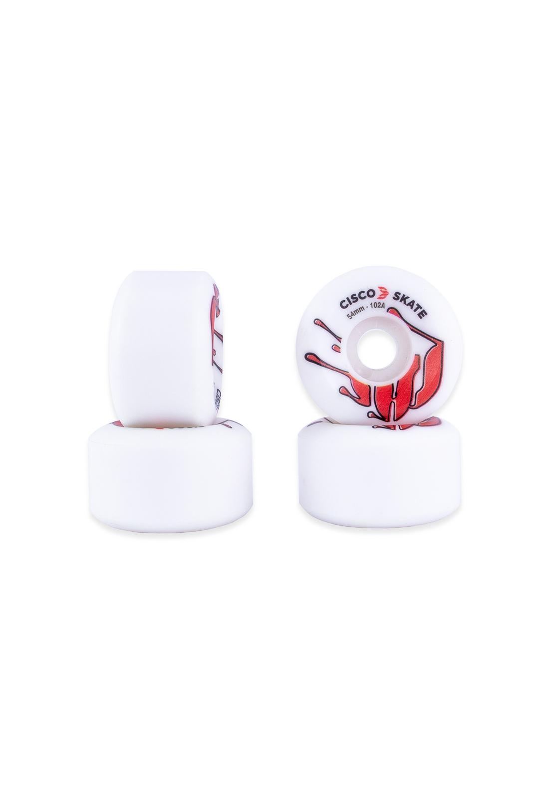 Roda Cisco Skate 54mm Fundida Premium Red 102A
