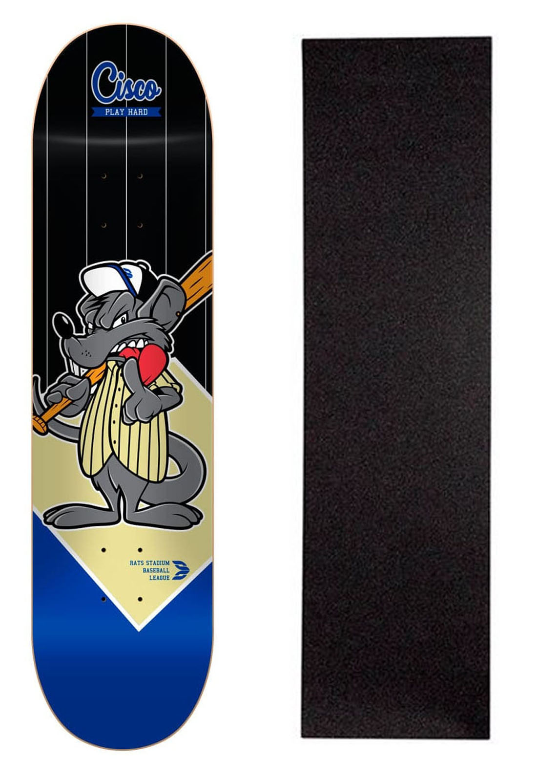 "Shape Cisco Skate Fiber Decks Baseball 8""+ Lixa Brinde"