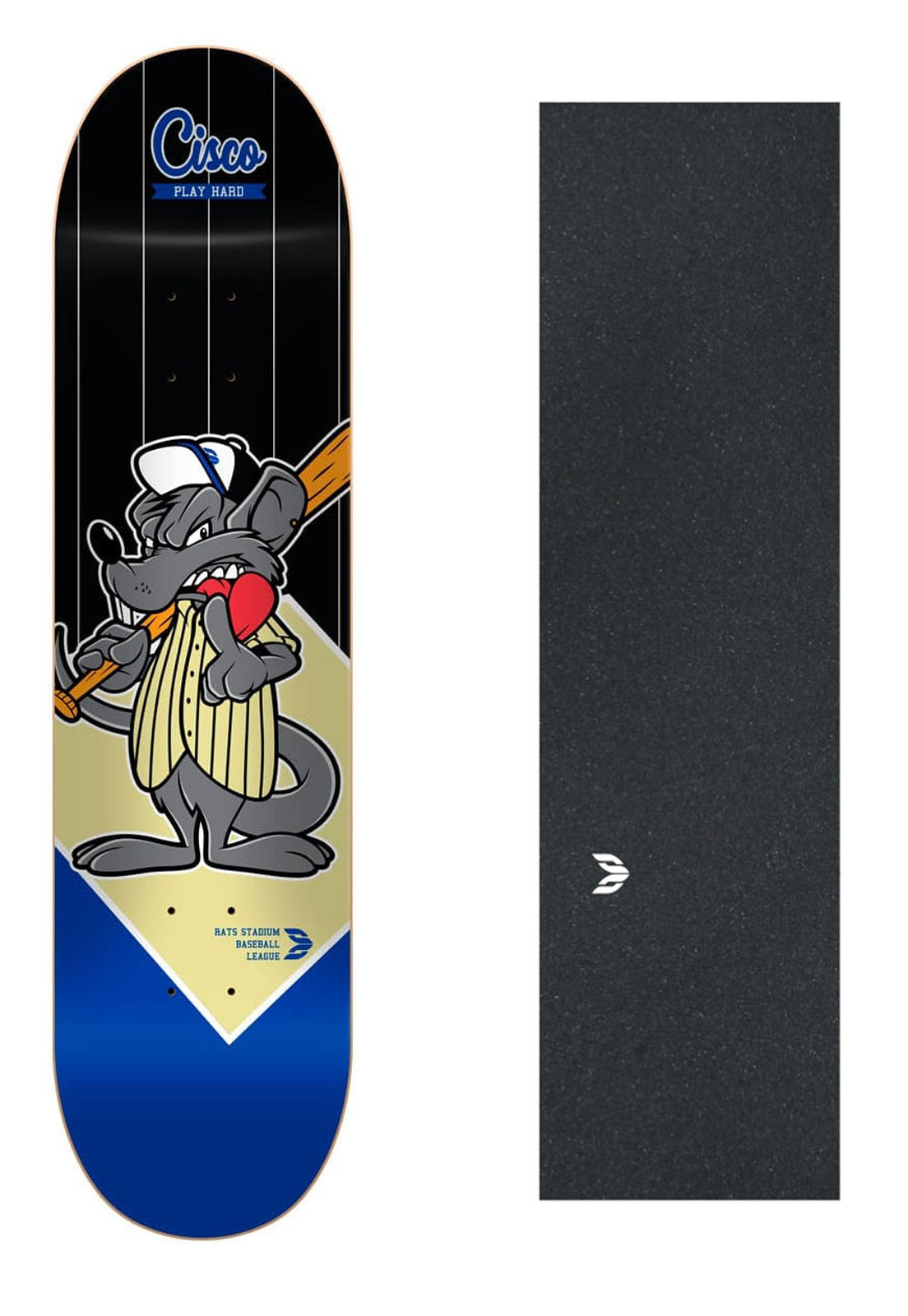 "Shape Cisco Skate Fiber Decks Baseball 8""+ Lixa Emborrachada"