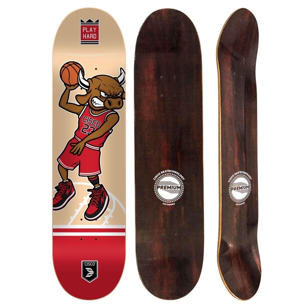 """Shape Cisco Skate Fiber Decks Basquetball 8"""""""