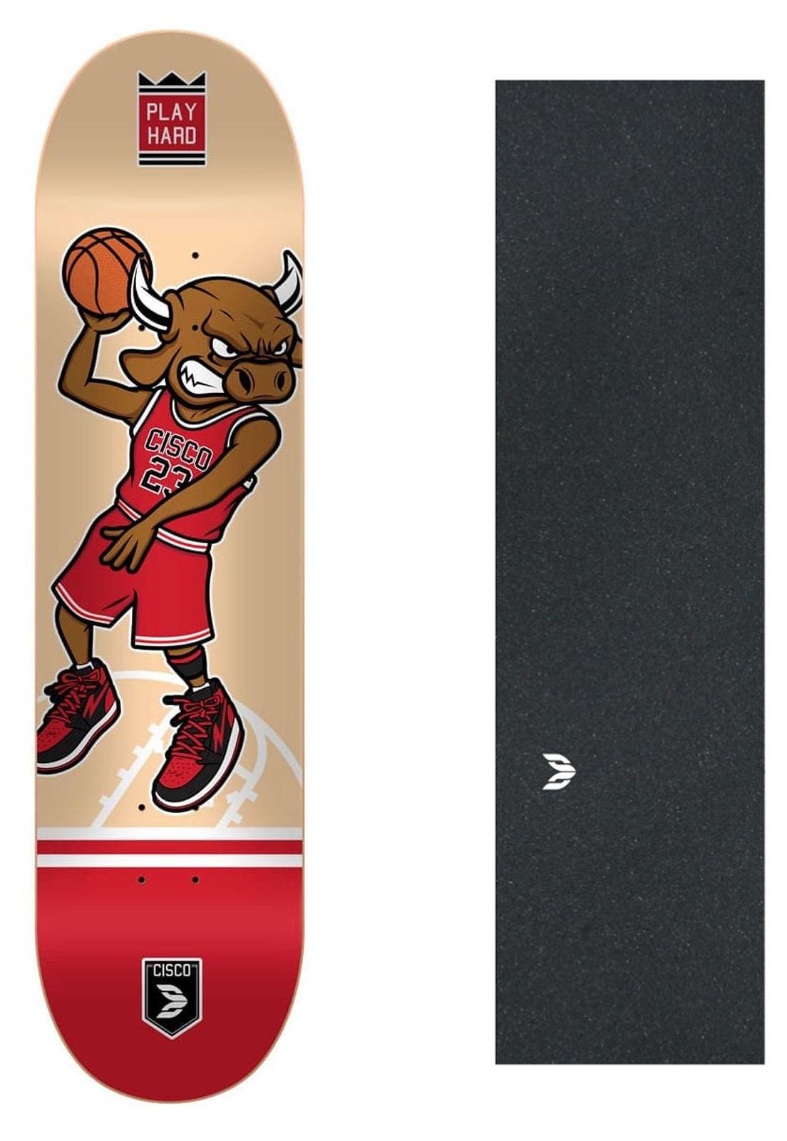 "Shape Cisco Skate Fiber Decks Basquetball 8"" + Lixa Emborrachada"