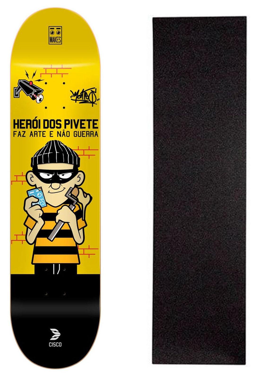 """Shape Cisco Skate Fiber Decks Herói dos Pivete 8"""""""