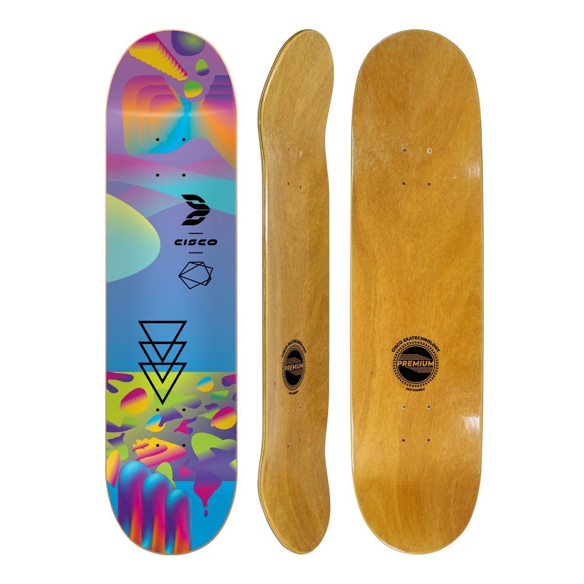 """Shape Cisco Skate Fiber Decks Neon Blue 8.25"""""""